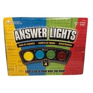 Learning Resources Answer Lights Set of 4 NEW!